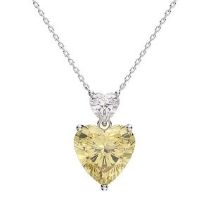 Jewelry - 3ct Canary Heart Necklace